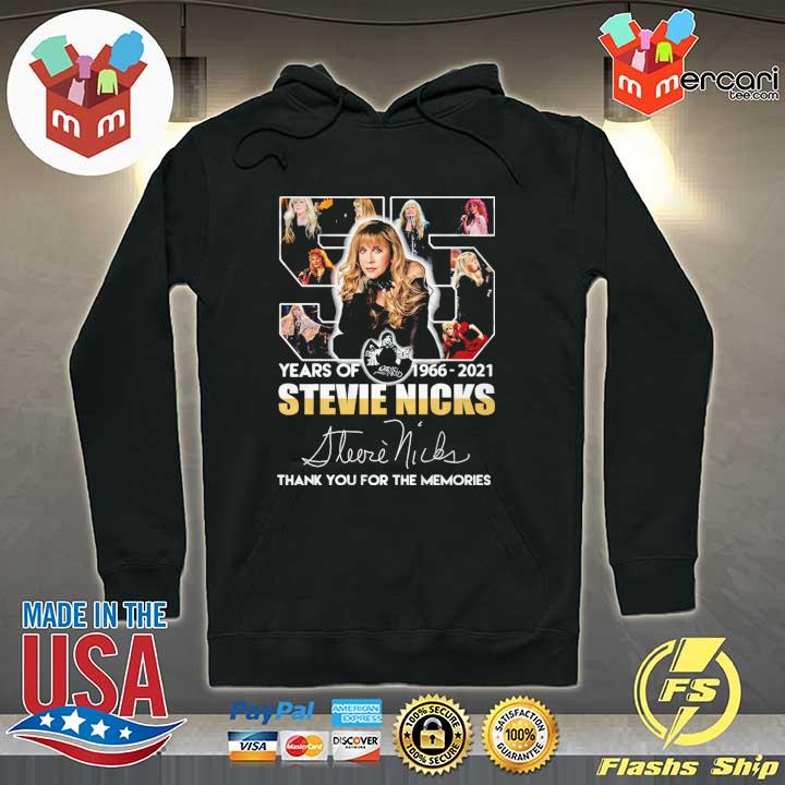 55 Years Of 1966 - 2021 Stevie Nicks Signature Thank You For The Memories Shirt Hoodie