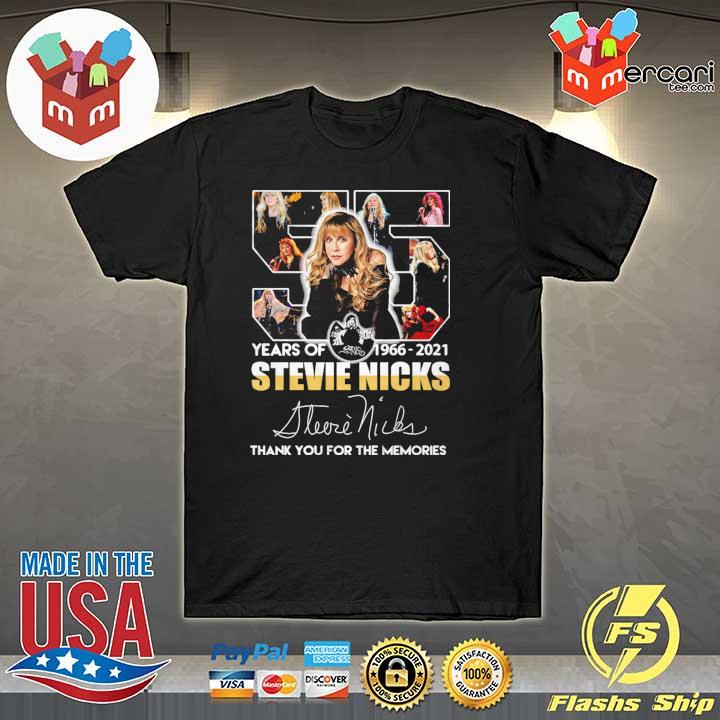 55 Years Of 1966 - 2021 Stevie Nicks Signature Thank You For The Memories Shirt