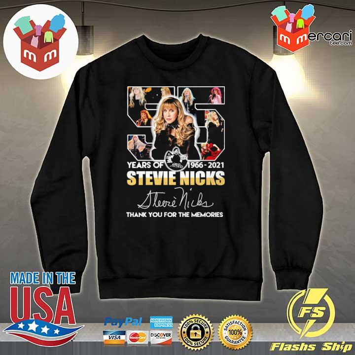 55 Years Of 1966 - 2021 Stevie Nicks Signature Thank You For The Memories Shirt Sweater