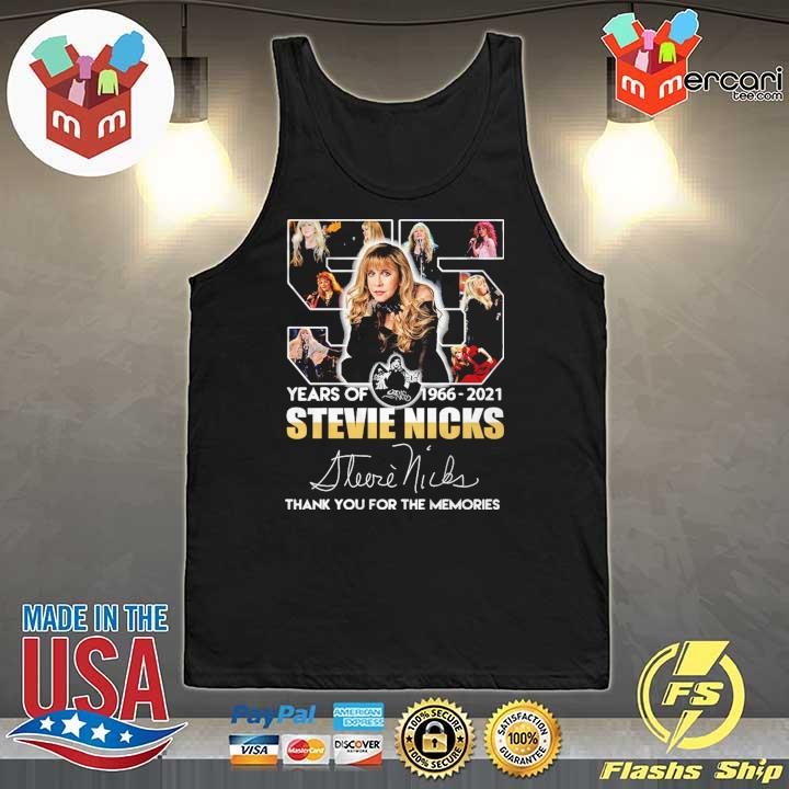 55 Years Of 1966 - 2021 Stevie Nicks Signature Thank You For The Memories Shirt Tank-Top