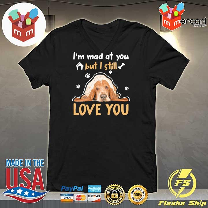 Basset Hound Lying Down I'm Mad At You But I Will Love You Shirt V-neck