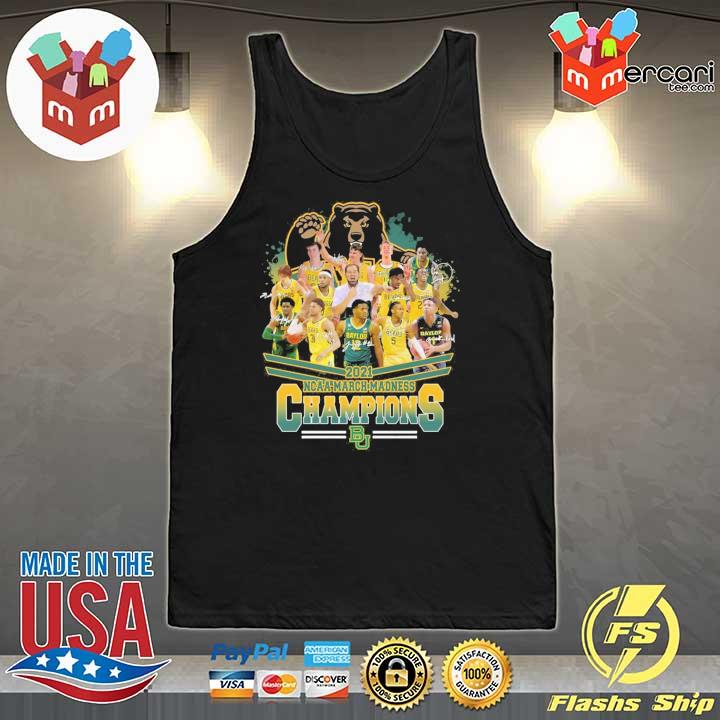 Official 2021 ncaa march madness champions signatures Tank-Top
