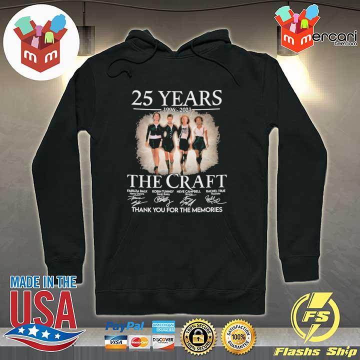 Official 25 years 1996 - 2021 the craft signatures thank you for the memories Hoodie