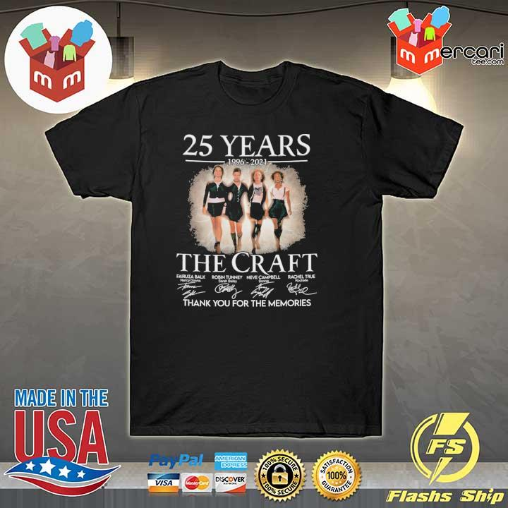 Official 25 years 1996 - 2021 the craft signatures thank you for the memories shirt