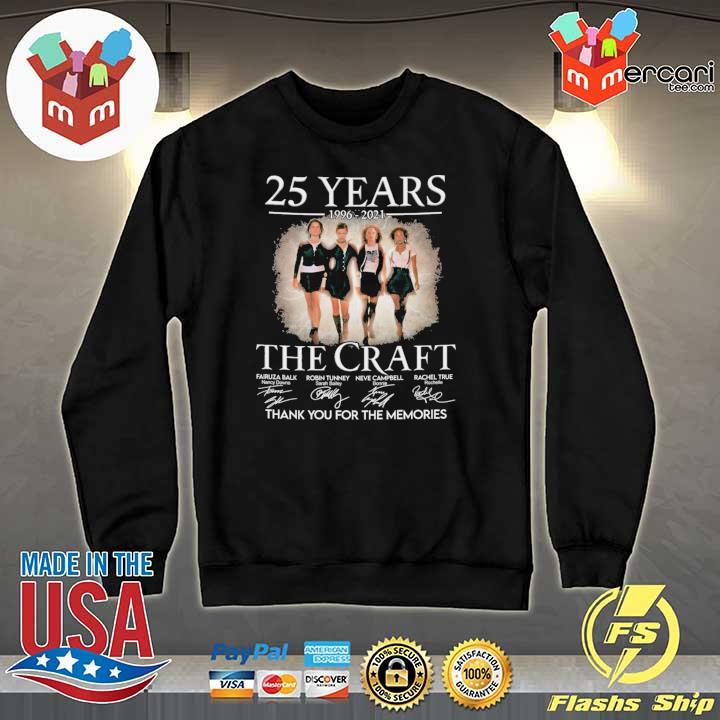 Official 25 years 1996 - 2021 the craft signatures thank you for the memories Sweater