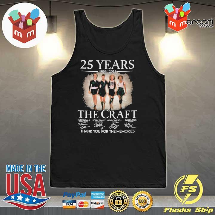 Official 25 years 1996 - 2021 the craft signatures thank you for the memories Tank-Top