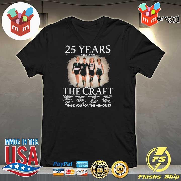 Official 25 years 1996 - 2021 the craft signatures thank you for the memories V-neck