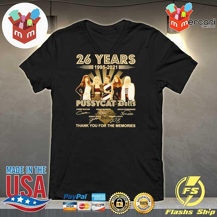 Official 26 years 1995 - 2021 pussycat dolls signatures thank you for the memories V-neck