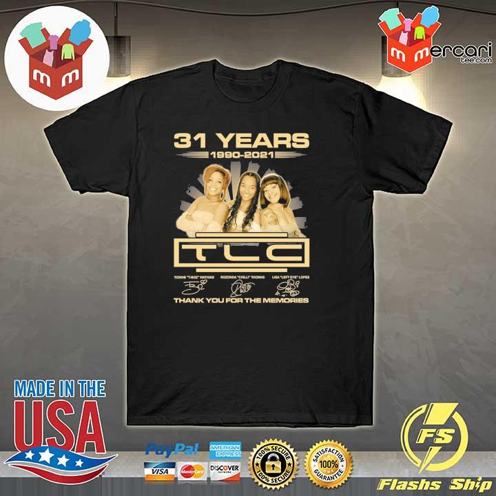 Official 31 years 1990 - 2021 tcl signatures thank you for the memories shirt