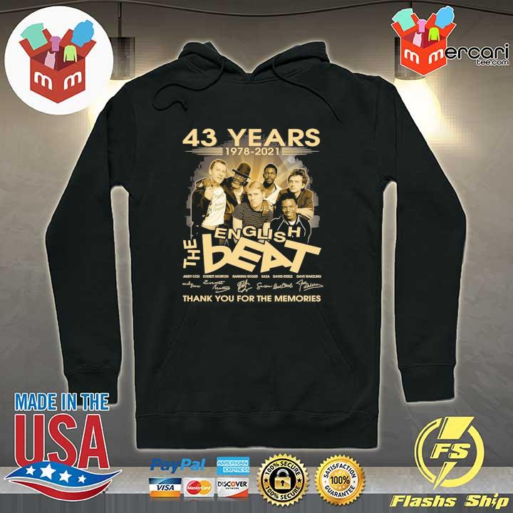 Official 43 years 1978 - 2021 english the beat andy cow everett morton signature thank you for the memories Hoodie