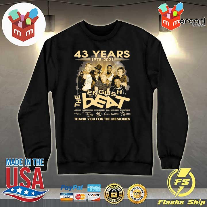 Official 43 years 1978 - 2021 english the beat andy cow everett morton signature thank you for the memories Sweater
