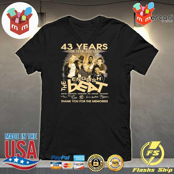 Official 43 years 1978 - 2021 english the beat andy cow everett morton signature thank you for the memories V-neck