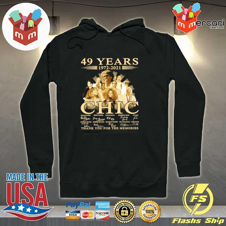 Official 49 years 1972 - 2021 chic nile rodgers signature thank you for the memories Hoodie