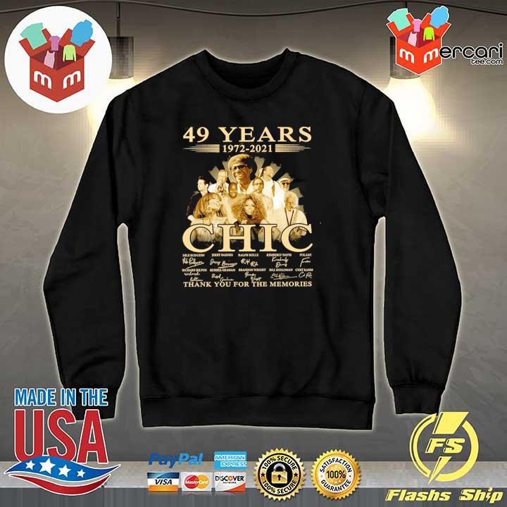 Official 49 years 1972 - 2021 chic nile rodgers signature thank you for the memories Sweater