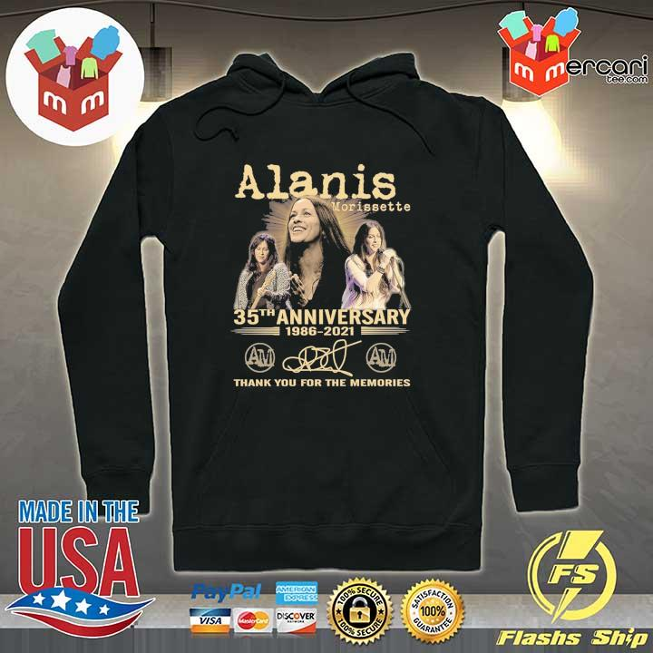 Official alanis morissette 35th anniversary 1986 - 2021 signature thank you for the memories Hoodie