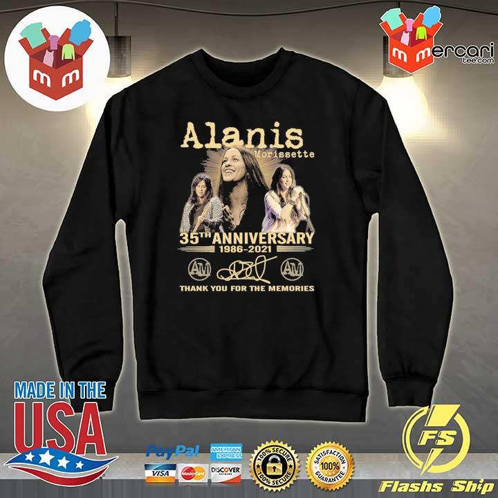 Official alanis morissette 35th anniversary 1986 - 2021 signature thank you for the memories Sweater