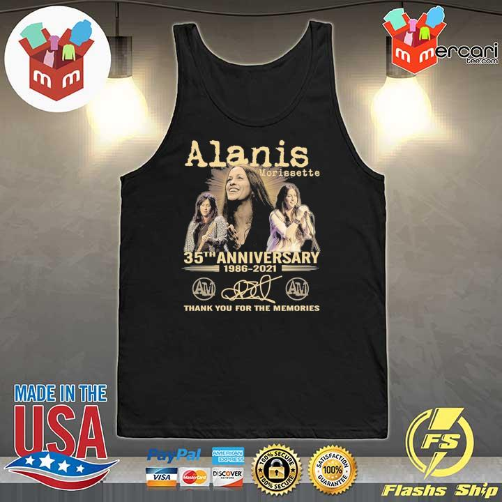 Official alanis morissette 35th anniversary 1986 - 2021 signature thank you for the memories Tank-Top