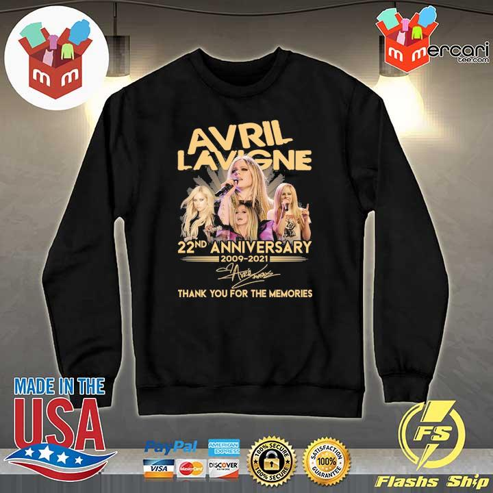 Official avril lavigne 22nd anniversary 2009 - 2021 signature thank you for the memories Sweater