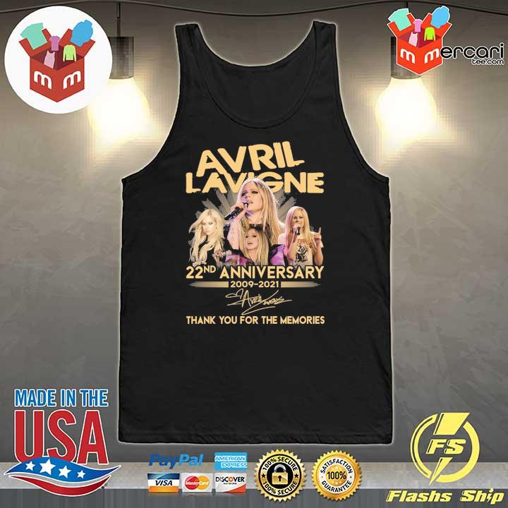Official avril lavigne 22nd anniversary 2009 - 2021 signature thank you for the memories Tank-Top