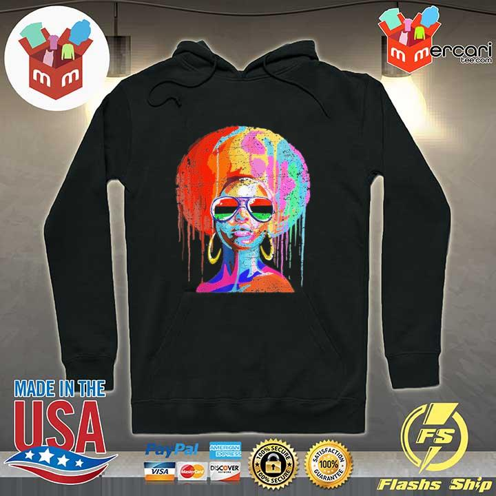 Official black queen afro melanin art Hoodie