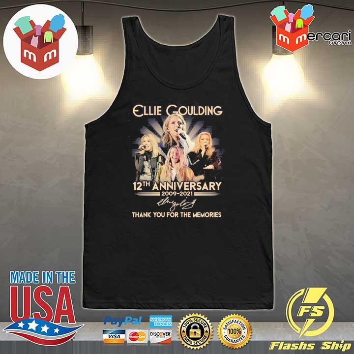 Official ellie goulding 12th anniversary 2009 - 2021 signature thank you for the memories Tank-Top