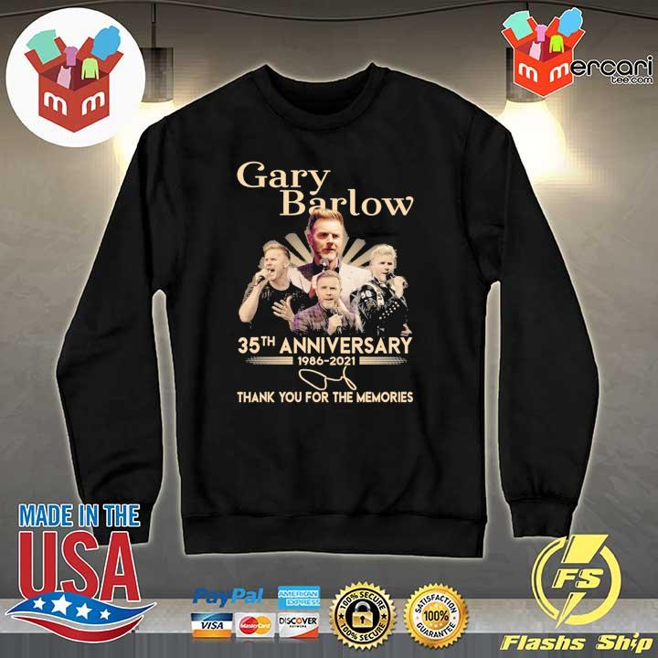 Official gary barlow 35th anniversary 1986 - 2021 thank you for the memories Sweater