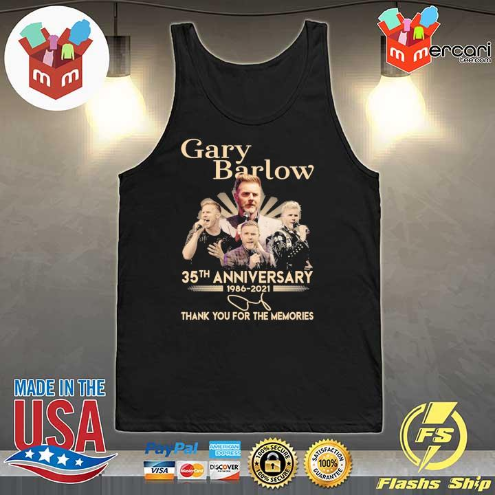 Official gary barlow 35th anniversary 1986 - 2021 thank you for the memories Tank-Top