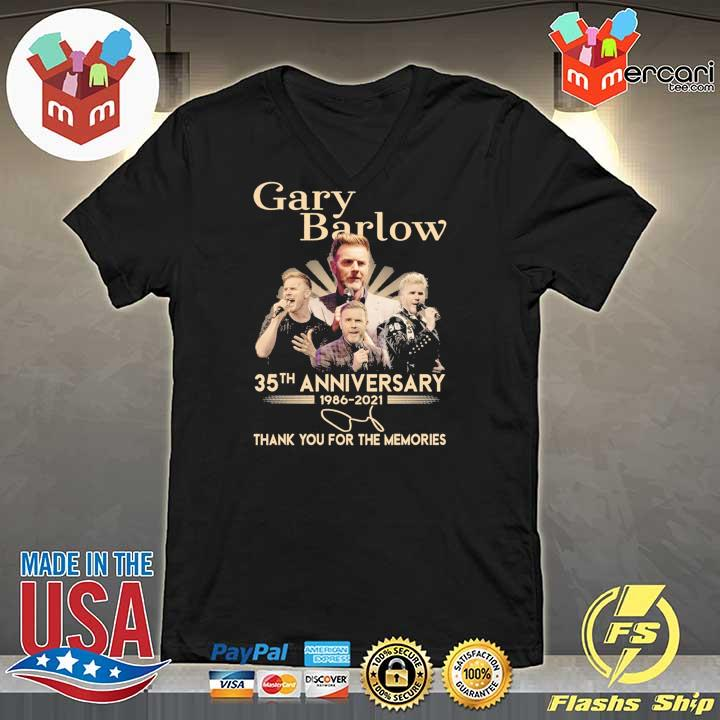 Official gary barlow 35th anniversary 1986 - 2021 thank you for the memories V-neck