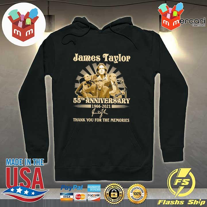 Official james taylor 50th anniversary 1966 - 2021 signatures thank you for the memories Hoodie