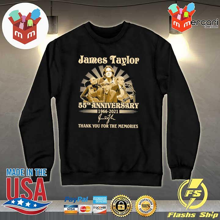 Official james taylor 50th anniversary 1966 - 2021 signatures thank you for the memories Sweater