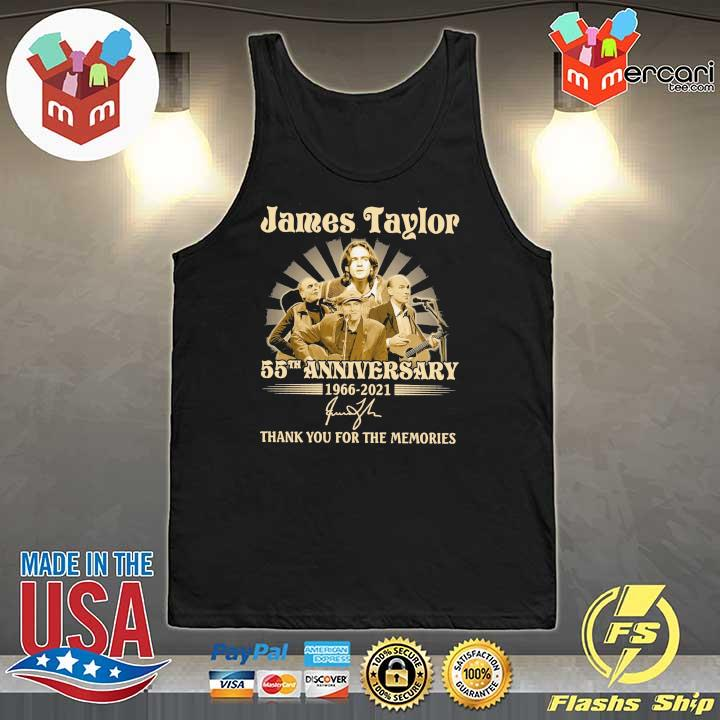 Official james taylor 50th anniversary 1966 - 2021 signatures thank you for the memories Tank-Top