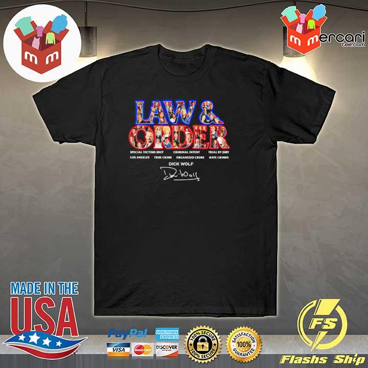 Official jaw & order special victims unit criminal intent trial by jury signaute shirt