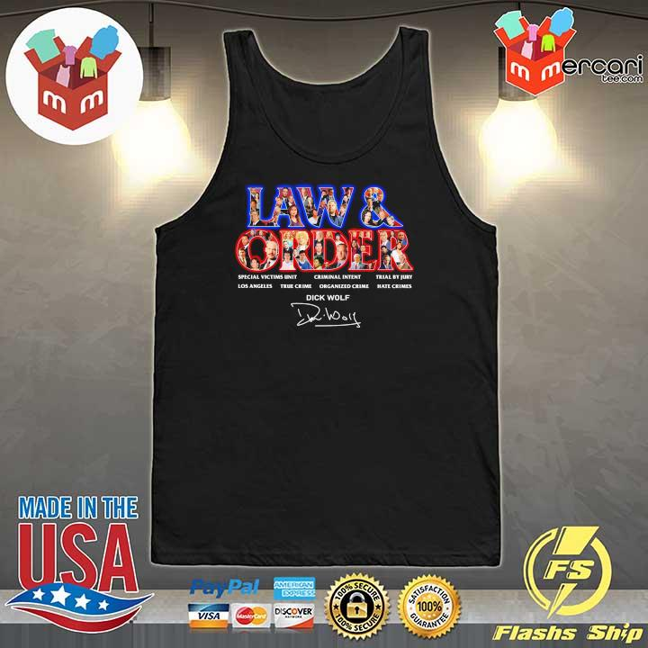 Official jaw & order special victims unit criminal intent trial by jury signaute Tank-Top