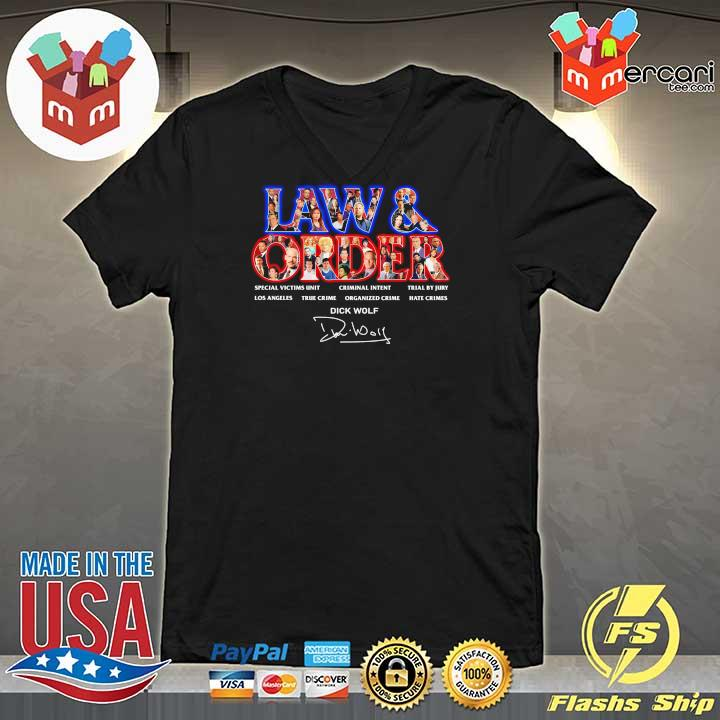 Official jaw & order special victims unit criminal intent trial by jury signaute V-neck