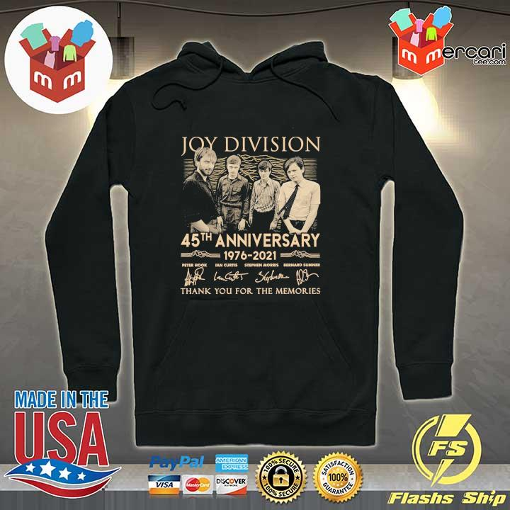 Official joy division 45th anniversary 1976 - 2021 peter hook ian curtis signatures thank you for the memories Hoodie
