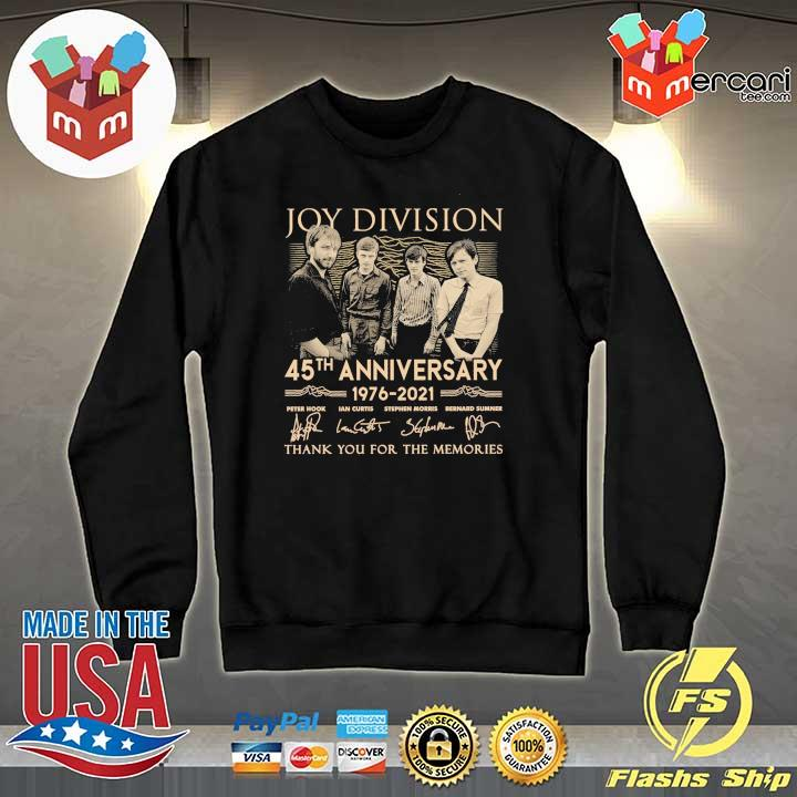 Official joy division 45th anniversary 1976 - 2021 peter hook ian curtis signatures thank you for the memories Sweater