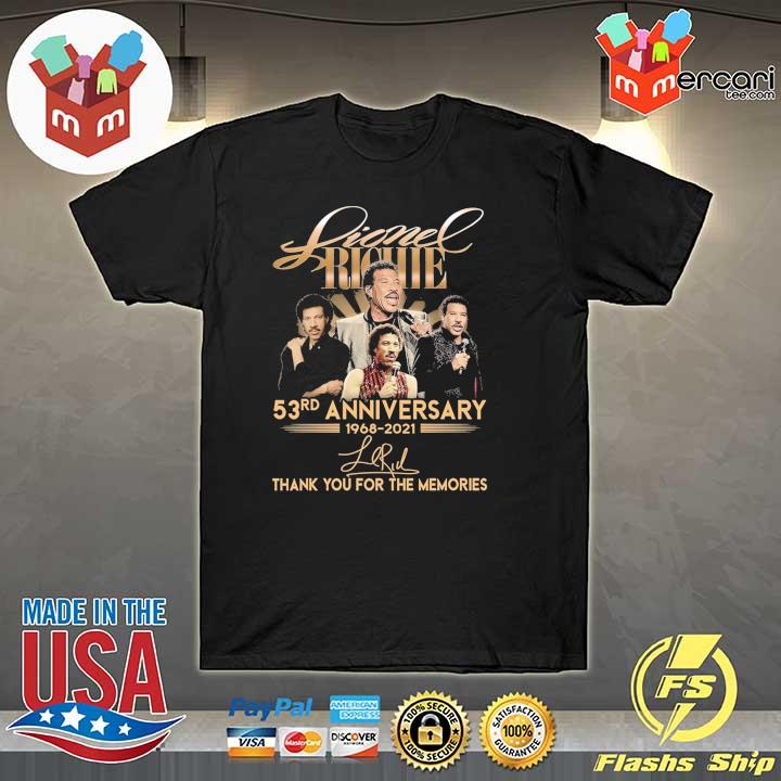 Official lionel richie 58rd anniversary 1968 - 2021 signature thank you for the memories shirt