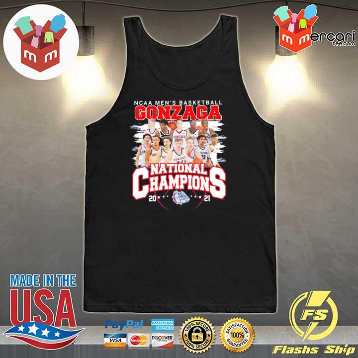 Official ncaa men's basketball gonzaga national champions 2021 Tank-Top