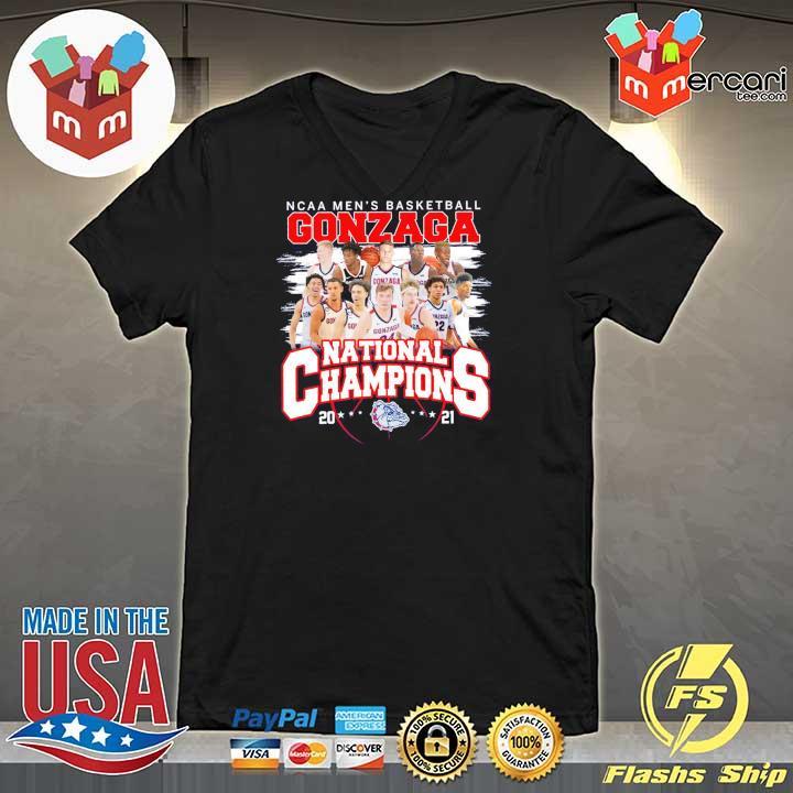 Official ncaa men's basketball gonzaga national champions 2021 V-neck