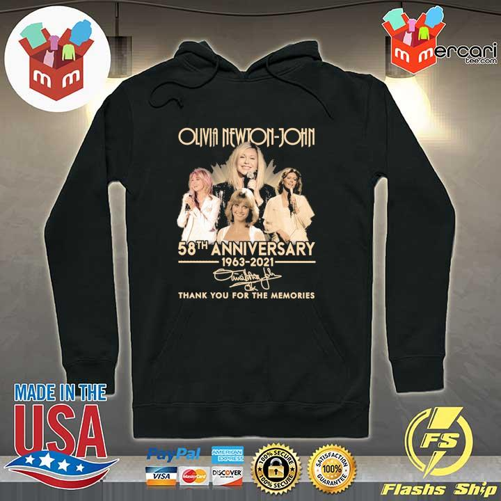 Official olivia newton-john 58th anniversary 1963 - 2021 signature thank you for the memories Hoodie