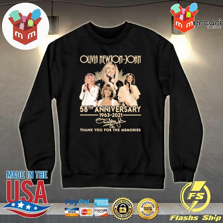 Official olivia newton-john 58th anniversary 1963 - 2021 signature thank you for the memories Sweater