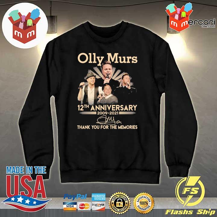 Official olly murs 12th anniversary 2009 - 2021 signature thank you for the memories Sweater