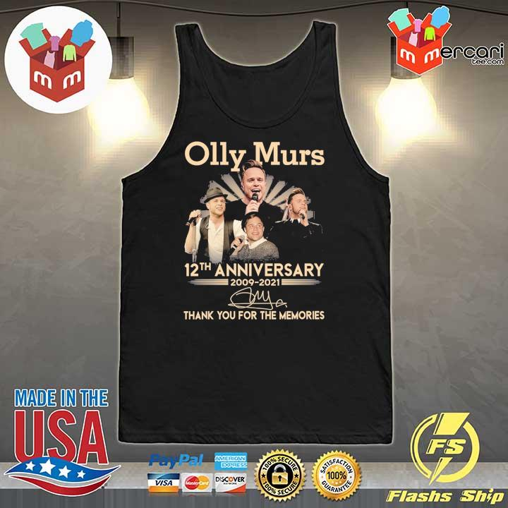 Official olly murs 12th anniversary 2009 - 2021 signature thank you for the memories Tank-Top