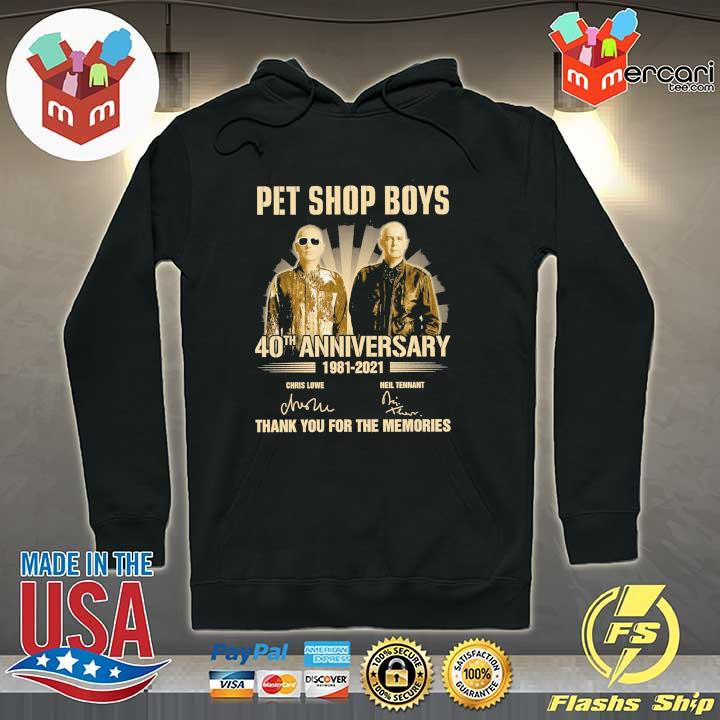 Official pet ship boys 40th anniversary 1981 - 2021 chris lowe neil tennant signatures thank you for the memories Hoodie