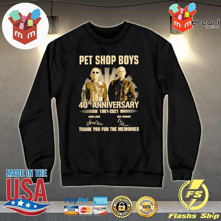 Official pet ship boys 40th anniversary 1981 - 2021 chris lowe neil tennant signatures thank you for the memories Sweater