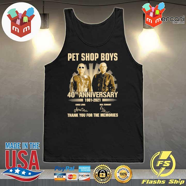 Official pet ship boys 40th anniversary 1981 - 2021 chris lowe neil tennant signatures thank you for the memories Tank-Top