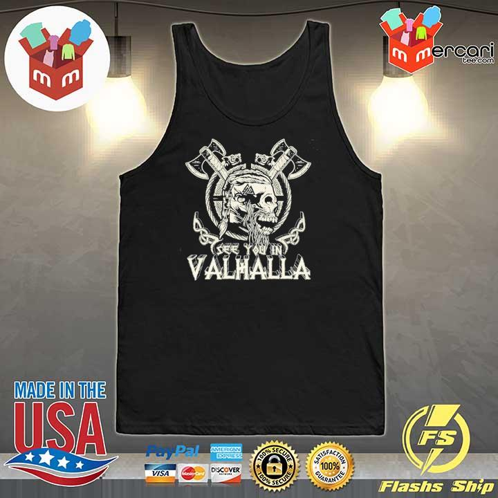 Official see you in valhalla viking vintage Tank-Top