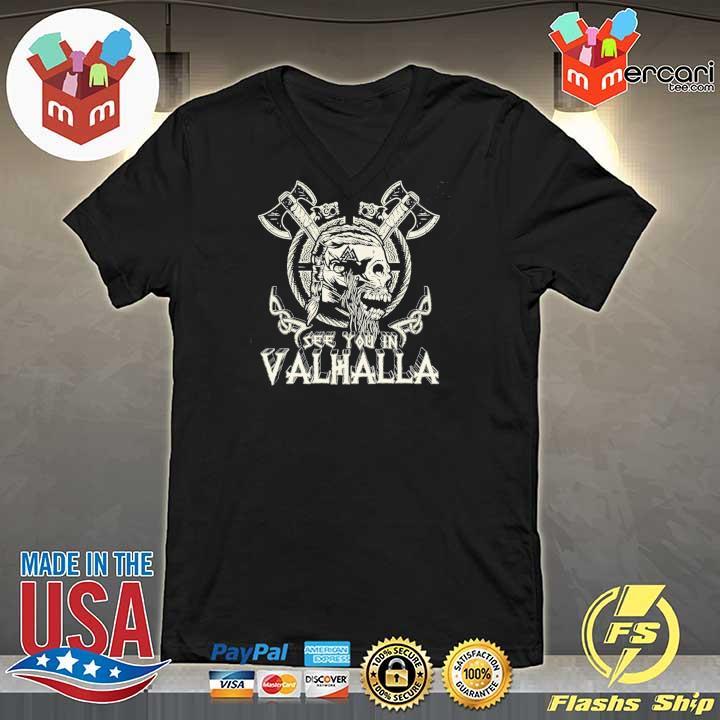 Official see you in valhalla viking vintage V-neck