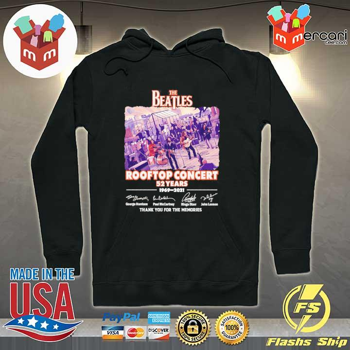 Official the beatles rooftop concert 52 years 1969 - 2021 signatures thank you for the memories Hoodie
