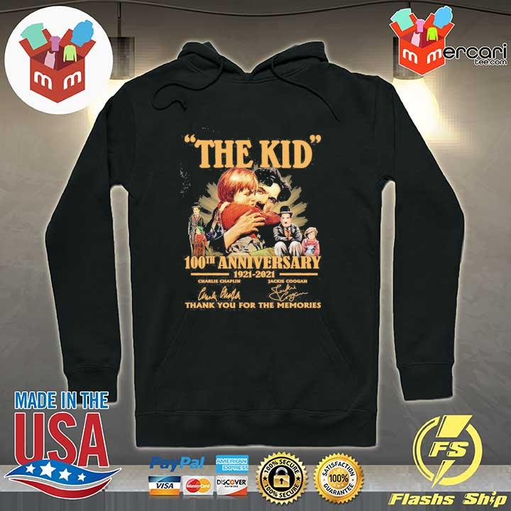 Official the kid 100th anniversary 1921 - 2021 charlie chaplin jackie coogan signatures thank you for the memories Hoodie